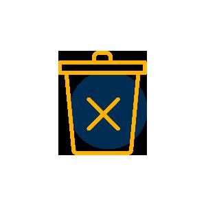 pictogramme poubelle à mégots