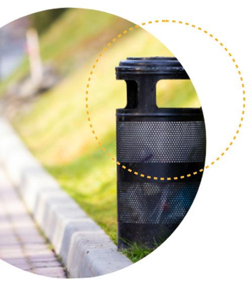 photo d'une poubelle noir, responsabilité Elargie du Producteur